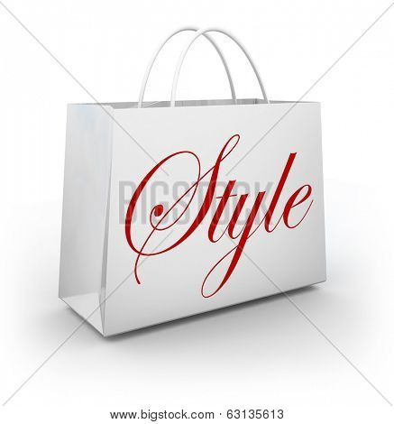 Style Word Shopping Bag Store Buying Trendy Fashion