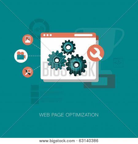 vector modern web page optimization concept illustration