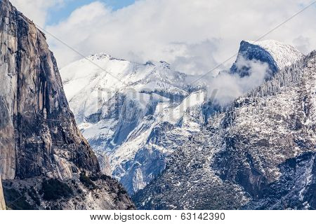 Snow Over Yosemite - Half Dome