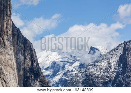 Snow Over Yosemite - Half Dome II