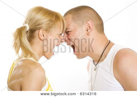 Couple Yelling At Each Other
