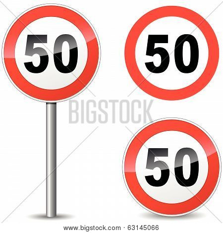 Vector Fifty Sign