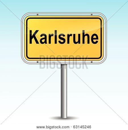 Vector Karlsruhe Signpost
