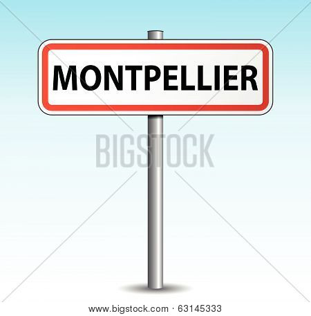 Vector Montpellier Signpost