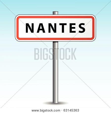 Vector Nantes Signpost