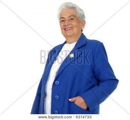 Happy Grandmother Isolated