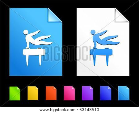 Pommel Icons on Colorful Paper Document Collection