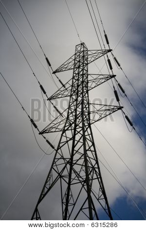 Electricity Pylon Clouds And Sky