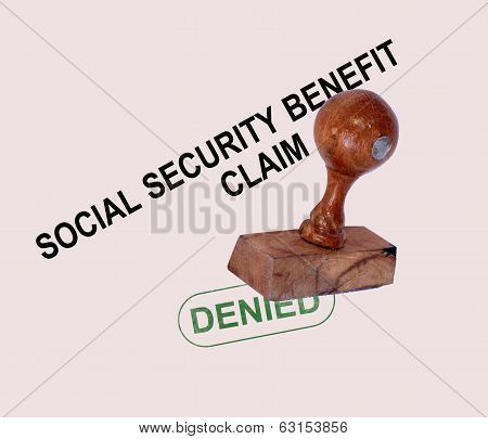 Social Security Claim Denied Stamp