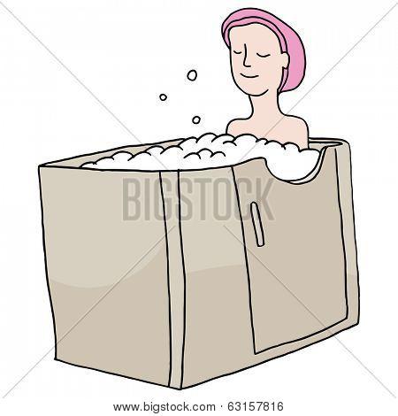 An image of a walk-in bathtub.