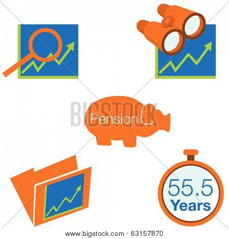 An image of stock investment icons.