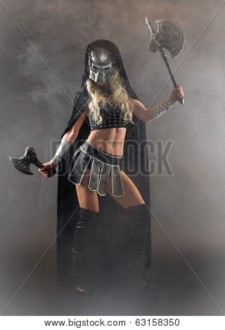 Woman And Ax