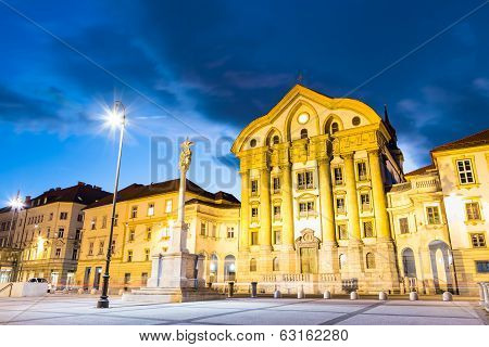 Ursuline Church, Ljubljana, Slovenia, Europe.