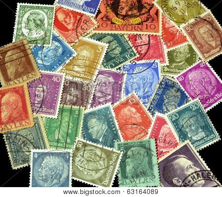 German Reich postage stamps