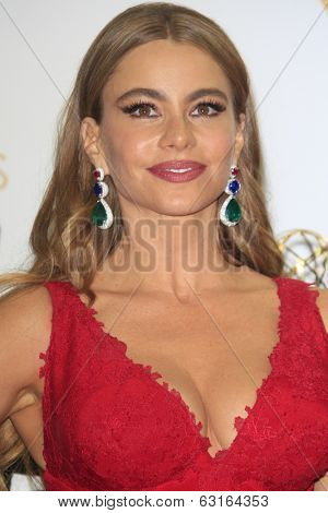 LOS ANGELES - SEP 22: Sofia Vergara in the press room during the 65th Annual Primetime Emmy Awards held at Nokia Theater L.A. Live on September 22, 2013 in Los Angeles, California