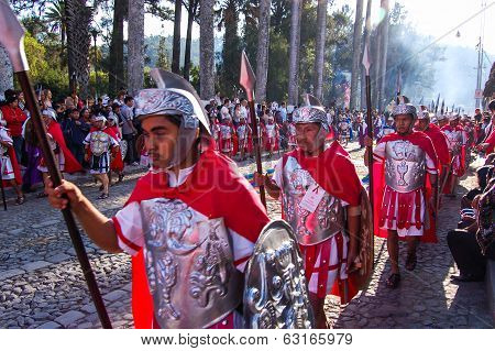 Romans In Holy Week Procession, Antigua, Guatemala