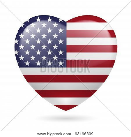 Heart icon of USA