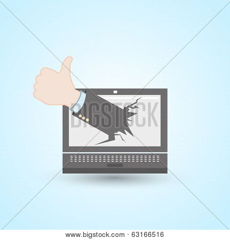 like hand laptop computer