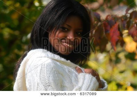 African-american Woman with smile