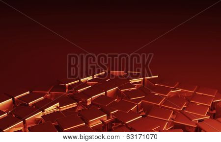 Abstract background in red and black colors