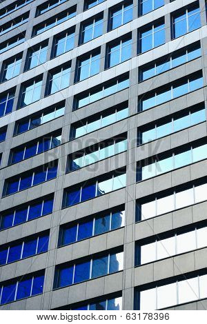 Windows of big office building