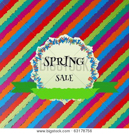 Spring Sale Colorful Vector Background