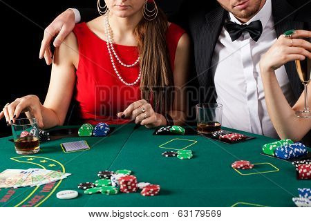 Casino Gambling Couple