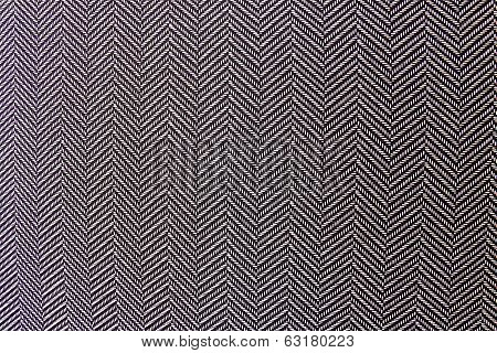 Black And White Herringbone Textile Texture
