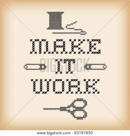 Embroidery, Make It Work Cross Stitch