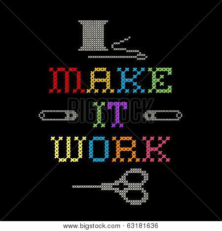 Embroidery, Make It Work Cross Stitch