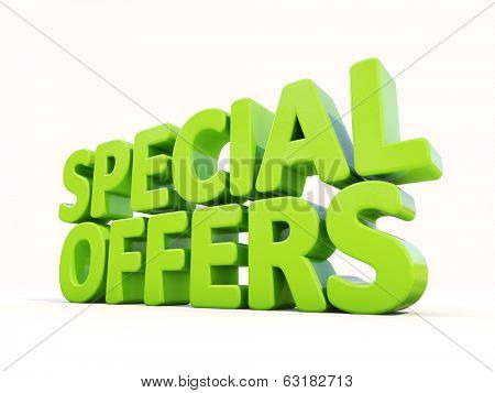 Special offers icon on a white background. 3D illustration