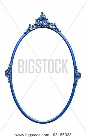 Retro Mirror Frame, Isolated On White