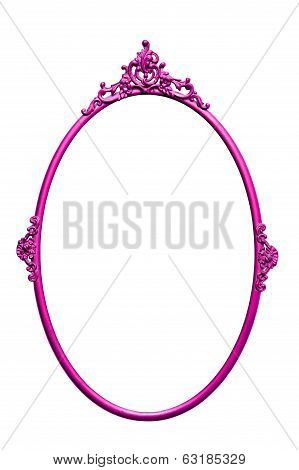Purple Round Retro Mirror Frame