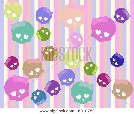 cute skulls background