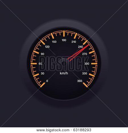 Speedometer Orange