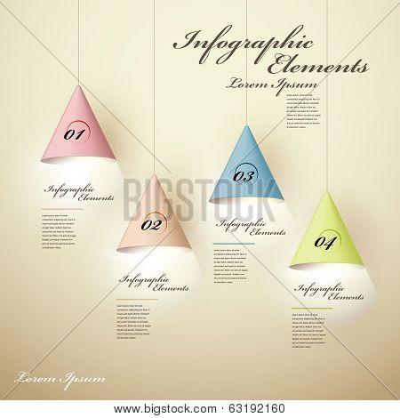 3D Luminous Chandelier Infographic Elements