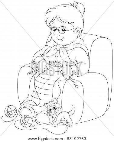 Granny knitting