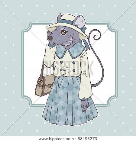 Fashion Illustration Of Mouse