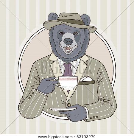 Fashion Illustration Of Bear