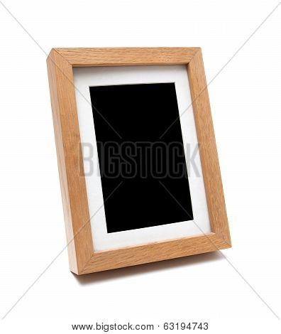 Wooden photo frame (clipping path )