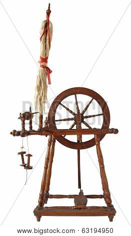 Vintage spinning wheal