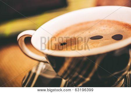Fresh Hot Coffee Cup