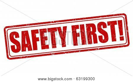 Safety First Stamp