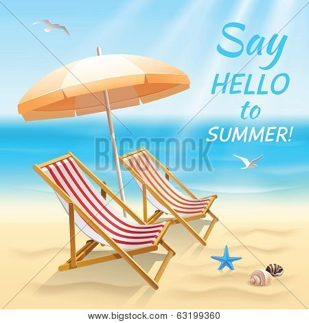 Summer holidays background wallpaper