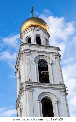 Belltower Of Iversky Monastery In Samara, Russia