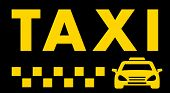 picture of cabs  - black taxi background with car and cab symbol - JPG