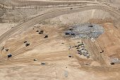 picture of landfill  - Southwest desert landfill aerial view from overhead - JPG