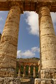Segesta Archaeological Site Of Ancient Greece Drills Sicily Italy