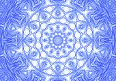 Abstract Blue Pencil Drawn Pattern