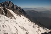 stock photo of jade blue  - Viewpoint Of Jade Dragon Snow Mountain - JPG